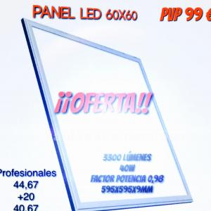 Panel led ideal techos seccionables