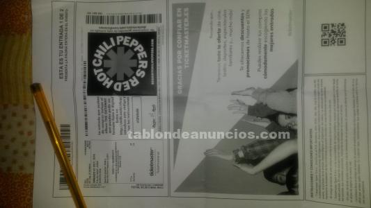 Vendo entrada d lis red hot chili peppers