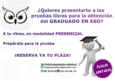 Prueba libre Graduado Educación Secundaria +18 años