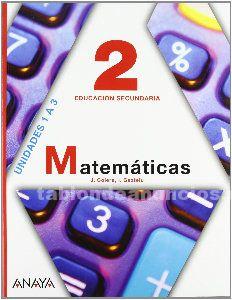 Libros de texto 2 eso matemáticas