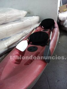 Kayak doble autovaciable insumergible