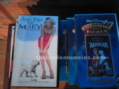 CINTAS DE VIDEO VHS PELICULAS (CASTELLANO E INGLES) Y DVD S