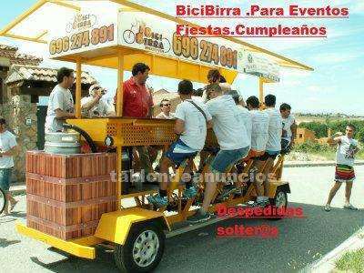 Beerbike o bicibirra para despedidas, eventos...