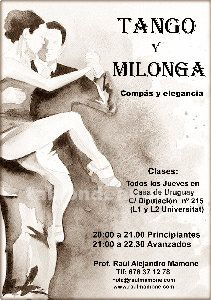 Cursos de iniciaci�n al tango argentino