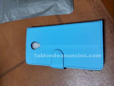 Funda flip cover azul meizu m2 mini