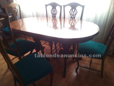 Se venden sillas y mesa de salon