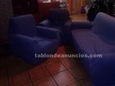 Conjunto tres sofas. Tresillo mas sillones.