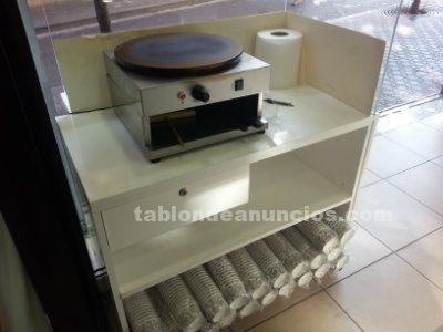 Crepera italiana + mueble/barra