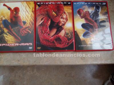 Spider-man 3 dvd- lote  de 3