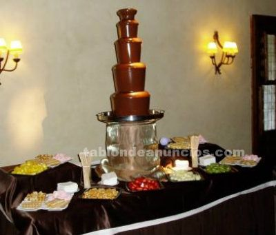 Fuentes de chocolate bodas y eventos