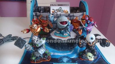 Skylanders giants, juego, base y 9 fig.