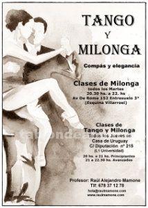 Clases de tango argentino iniciación y avanzados
