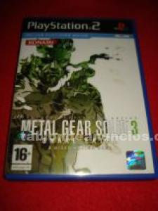 Juego ps2 metal gear solid 3 snake eater