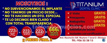 Clinica dental en chiclana: oferta implante dental 222€