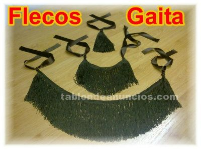 Vendo flecos completos marrones para ronco de gaita