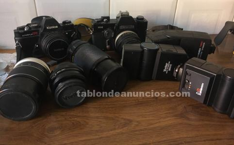 Vendo camaras objetivos y flash
