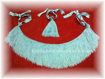 Vendo flecos azul artico para gaita