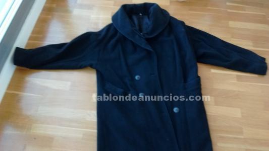 Abrigo largo negro de señora