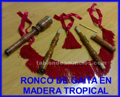 Vendo ronco de gaita en madera tropical
