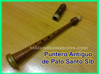 Vendo puntero antiguo de palo santo en si bemol con buja para gaita