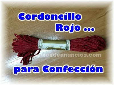 Vendo cordoncillo rojo para confeccion