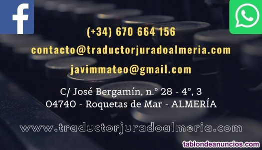 Traductor e intérprete jurado inglés/español/francés/rumano/árabe...