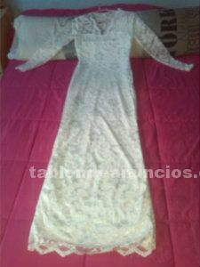 VESTIDO DE BODA DE COLOR BLANCO VISTO EN PASARELA MADRID