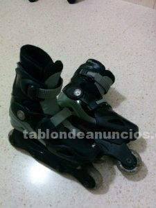 Patines california negros extensibles tallas 33-36