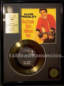 Disco oro elvis presley. Heartbreak hotel jailhouse rock certificado autenticida