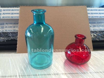 Lote miini botellas para decorar