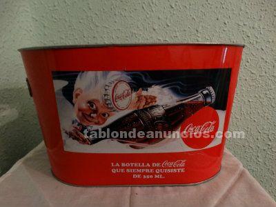 Enfriador metálico de Coca Cola
