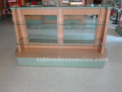 Mueble gondola central farmacia