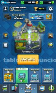 Clash of royal tiene 4000 copas y mago electrico minero y princesa al 2