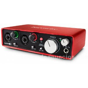 Carta sonido/audio usb focusrite scarlett 2i2