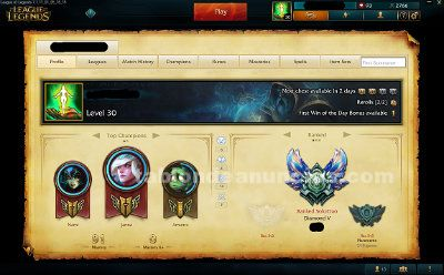 League of legends: cuenta diamante v