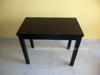 MESA EXTENSIBLE IKEA MOD BJUSTRA COLOR NEGRO MARRÓN