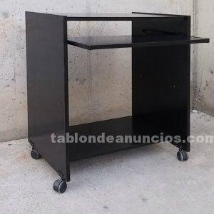 Tabl n de anuncios com mesa auxiliar de color negro con for Muebles segunda mano lleida