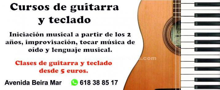 Clases de guitarra, teclado y canto
