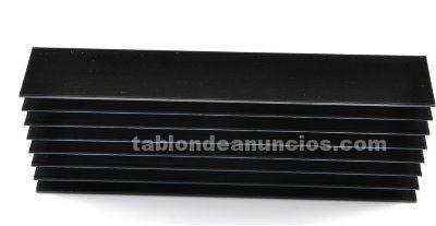 Disipador negro de aluminio de 4,8x 5,5