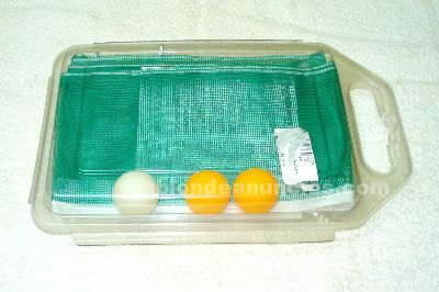 Kit de red de ping-pong y 3 pelotas