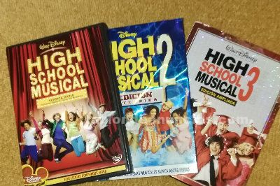 Peliculas dvd- high school musical 1, 2 y 3
