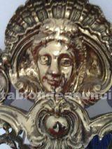 Espejo de metal bañado en dorado