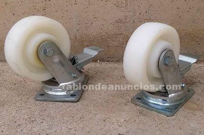 Lote de 2 ruedas de poliamida