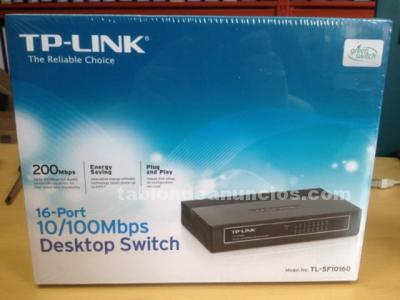 Switch red 16 puertos 10/100 tp-link nuevo
