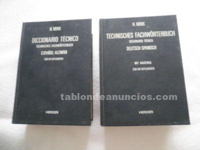 Vendo diccionarios ténico, alemán - español y español alemán