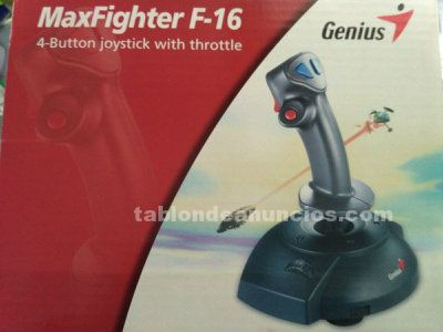 Joystick genius maxfighter f-16 4 button joystick with throttle
