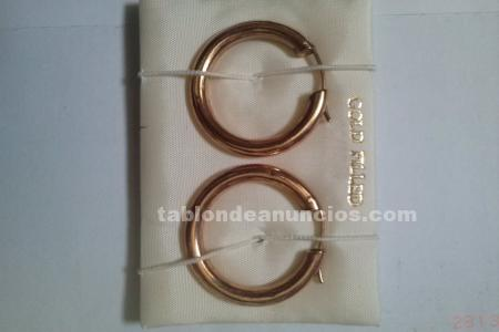 Vendo dos pares de aros gold field