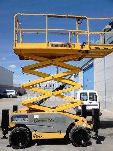 Plataforma elevadora de tijera diesel haulotte compac 10 dx