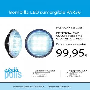 Bombilla led sumergible par56