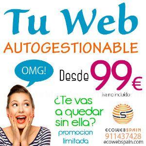 Web autogestionable  economica